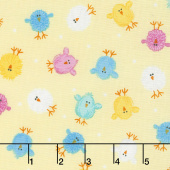 Some Bunny Loves You - Mini Chicks Light Yellow Yardage