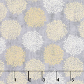 Sing Your Song - Floral Silhouettes Gray Yardage