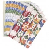 Stacked Floral Quilts Notecards