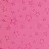 "Cuddle Embossed Star - Fuchsia 60"" Minky Yardage"