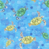Octopus Garden - Turtles Water Digitally Printed Yardage