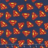 Superman - Superman Logo Navy Yardage
