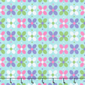 Flower Sacks - Flower Power Turquoise Yardage