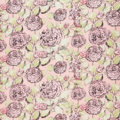 Sweet Stems - Floral Pink Yardage