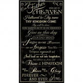 Novelty - Lord's Prayer Black Panel