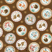 Camp - A - Long Critters - Circles Brown Yardage