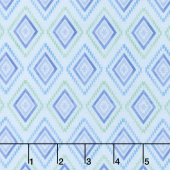Humming Along - Diamond Geometric Blue Yardage
