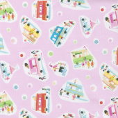 Sweet Treats - Ice Cream Truck Strawberry Yardage