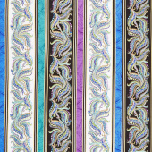 Horsen Around - Mane Swirl Stripe Multi Metallic Yardage