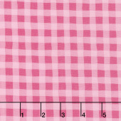 Good Day! - Giddy Gingham Pink Yardage
