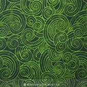 "Wilmington Essentials - Dotty Waves Tonal Dark Green 108"" Backing"