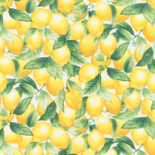 Splash of Lemon - Packed Lemons Cream Yardage