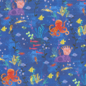 Octopus Garden - Octopus Ocean Digitally Printed Yardage