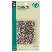 "Safety Pins - Size 1 (1 1/16"") - 200 count  Nickle"