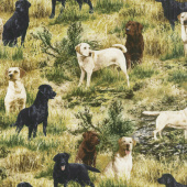 Animals - Pups in the Woods Grass Yardage
