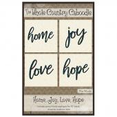Home, Joy, Love, Hope Precut Fused Appliqué Pack