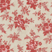 Northport Prints - Cottage Curtains Red Yardage