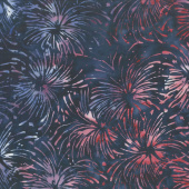 Freedom Batiks - Stars Red, White & Blue Yardage