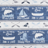A Day at the Lake - Repeating Stripe Multi Yardage