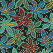 Kaffe Fassett Collective Spring 2018 - Dark Lacy Leaf Green Yardage