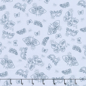 Wild Bouquet - Moths Blue Yardage