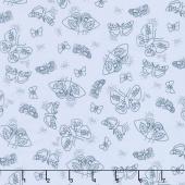 Wild Bouquet - Moths Blue Yardage