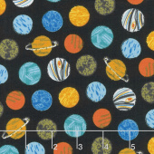 Out of this World - Planets Black Yardage