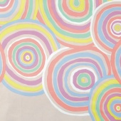 """The Kaffe Fassett Collective - Circles Pastel 108"""" Wide Backing"""