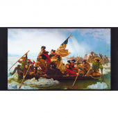 Patriots - Crossing Delaware Antique Digitally Printed Panel