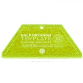 "Small Half Hexagon Template for 5"" Charm Packs & 2.5"" Jelly Rolls"