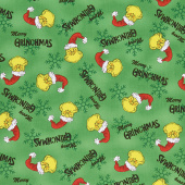How the Grinch Stole Christmas - Holiday Hats Green Yardage