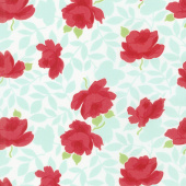 Little Snippets - Vintage Rose Aqua Yardage
