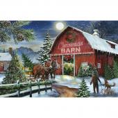 Christmas Wish - Christmas Barn Multi Digitally Printed Panel