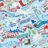 Novelty - Seattle Rain Yardage
