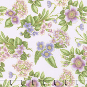 Avery Hill - Blossom Flowers Blossom Metallic Yardage