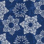Artisan Batiks - Snowflakes 2 Medallion Snowflakes Astral Metallic Yardage