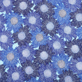 Murmur - Sunflower Blue Yardage