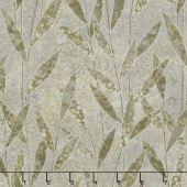 Shimmer Dragonfly Moon - Tranquility Leaves Gray Taupe Yardage