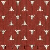Ranch Hands - Longhorn Red Yardage