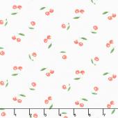 The Berry Best - Cherries Toss White Yardage