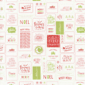 The Christmas Card - Cards Red Green Yardage
