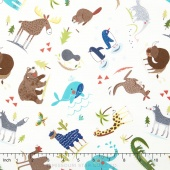 Hello World - Wild Things Cream Yardage