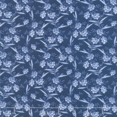 Blue Byrd - Floral Spray Navy Yardage