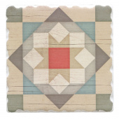 Barn Quilts Coaster - Barn Star