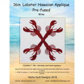 Lobster Precut Fusible Appliqué Shape