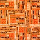 Trick or Treat - Treat Words Orange Yardage