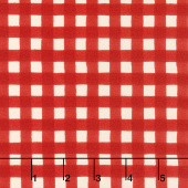 Cultivate Kindness - Farmhouse Gingham Truck Red Yardage