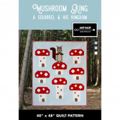 Mushroom King - A Squirrel & His Kingdom Quilt Pattern