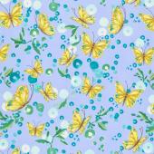 Cottage Bleu - Butterflies Sky Yardage
