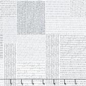 Harmony - Alphabet White Rain Yardage